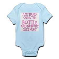 HAND OVER THE BOTTLE Infant Bodysuit