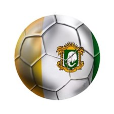 "Cote D'Ivore Soccer ball 3.5"" Button"