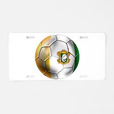Cote D'Ivore Soccer ball Aluminum License Plate