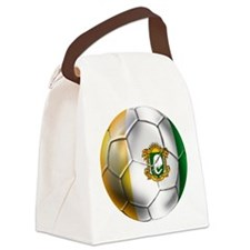 Cote D'Ivore Soccer ball Canvas Lunch Bag