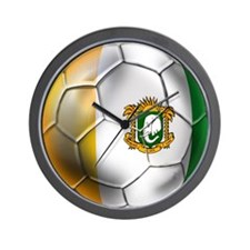 Cote D'Ivore Soccer ball Wall Clock