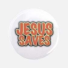 """Jesus Saves 3.5"""" Button"""