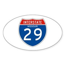 Interstate 29 - MO Oval Decal