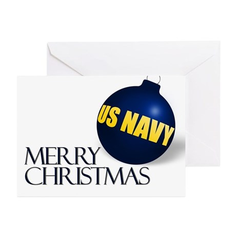 Very Navy Christmas Greeting Cards (Pk of 10)