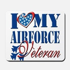 I Love My Airforce Veteran Mousepad