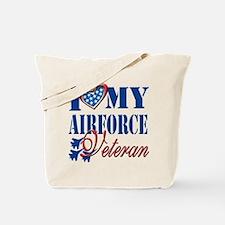 I Love My Airforce Veteran Tote Bag