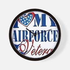 I Love My Airforce Veteran Wall Clock