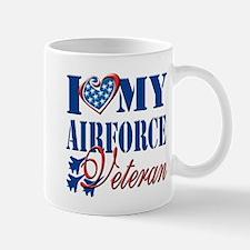 I Love My Airforce Veteran Mug