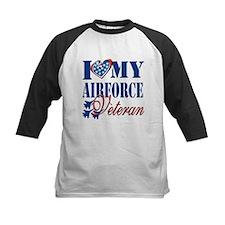 I Love My Airforce Veteran Baseball Jersey