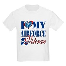 I Love My Airforce Veteran T-Shirt