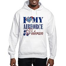 I Love My Airforce Veteran Hoodie