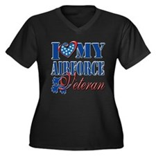 I Love My Airforce Veteran Plus Size T-Shirt