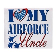 I Love My Airforce Uncle Throw Blanket