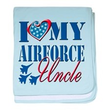 I Love My Airforce Uncle baby blanket