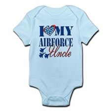 I Love My Airforce Uncle Body Suit