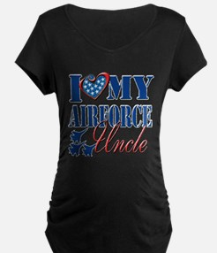 I Love My Airforce Uncle Maternity T-Shirt