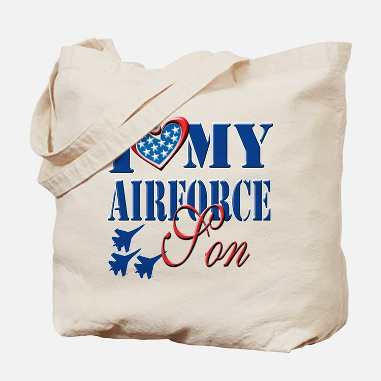 I Love My Airforce Son Tote Bag