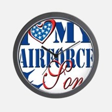 I Love My Airforce Son Wall Clock
