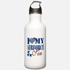 I Love My Airforce Son Water Bottle