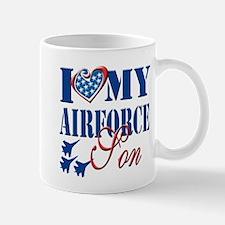 I Love My Airforce Son Mug