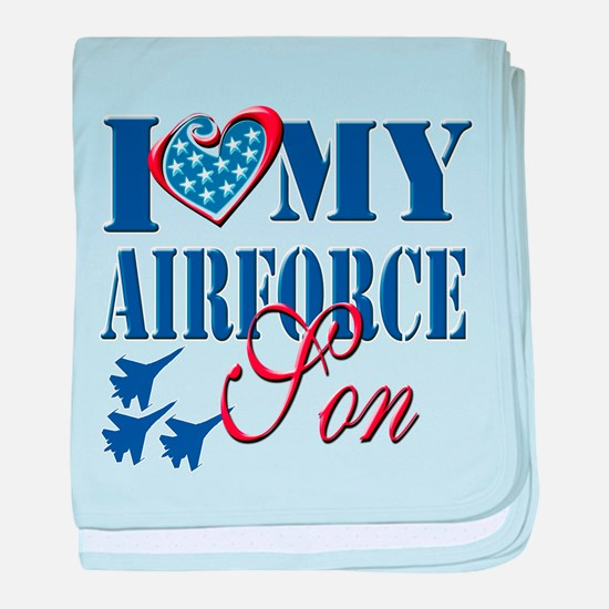 I Love My Airforce Son baby blanket