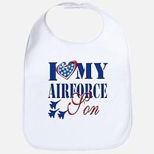 I Love My Airforce Son Bib