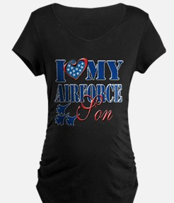 I Love My Airforce Son Maternity T-Shirt