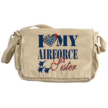 I Love My Airforce Sister Messenger Bag