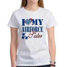 I Love My Airforce Sister T-Shirt