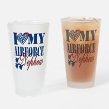 I Love My Airforce Nephew Drinking Glass