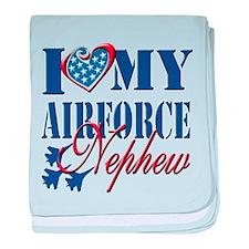I Love My Airforce Nephew baby blanket