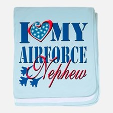 I Love My Airforce Nephew baby blanket