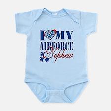 I Love My Airforce Nephew Body Suit
