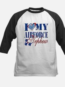 I Love My Airforce Nephew Baseball Jersey