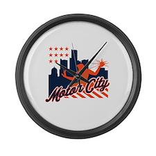 Motor City Large Wall Clock