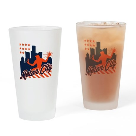Motor City Drinking Glass By Theallcity