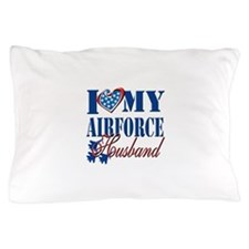 I Love My Airforce Husband Pillow Case