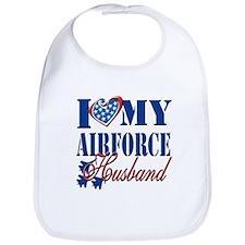 I Love My Airforce Husband Bib