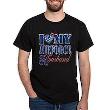 I Love My Airforce Husband T-Shirt