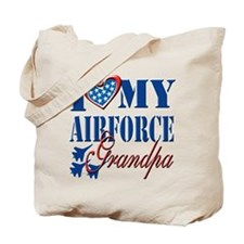 I Love My Airforce Grandpa Tote Bag