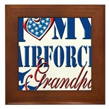 I Love My Airforce Grandpa Framed Tile