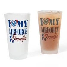 I Love My Airforce Grandpa Drinking Glass