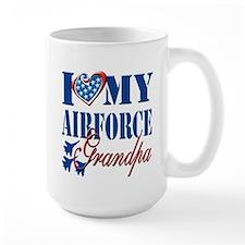 I Love My Airforce Grandpa Mug