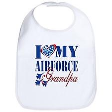 I Love My Airforce Grandpa Bib