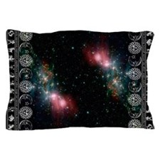 zodiac black Pillow Case