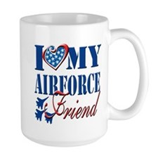 I Love My Airforce Friend Mug