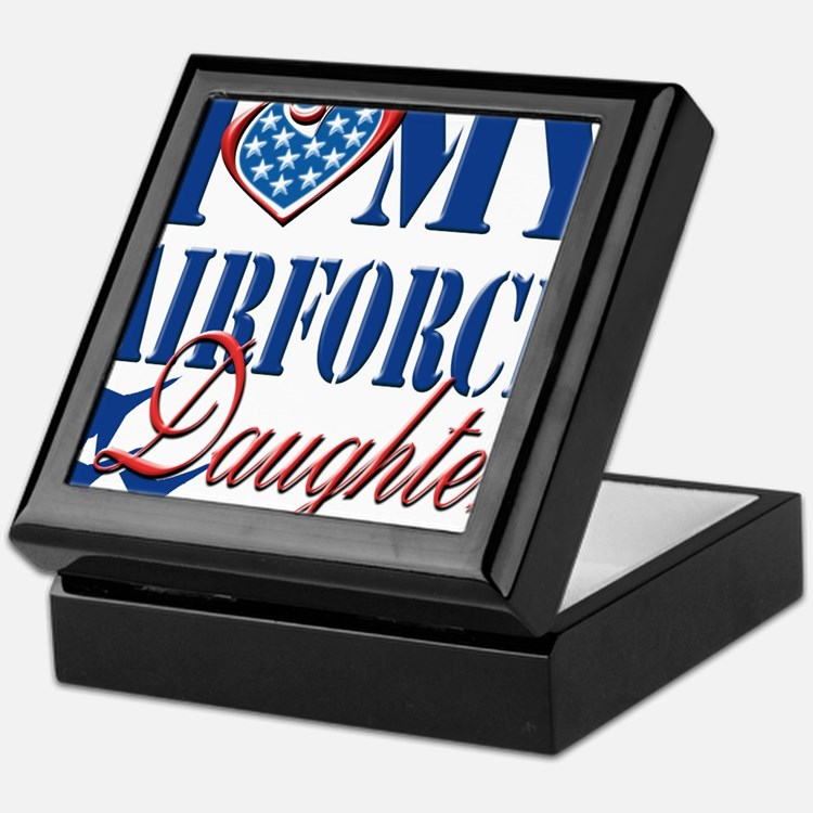 I Love My Airforce Daughter Keepsake Box