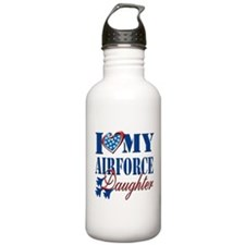 I Love My Airforce Daughter Water Bottle