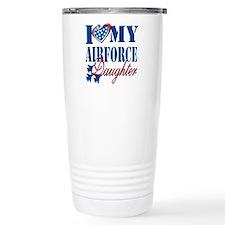I Love My Airforce Daughter Travel Mug