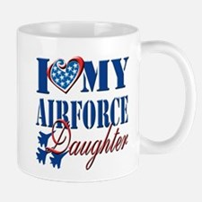 I Love My Airforce Daughter Mug